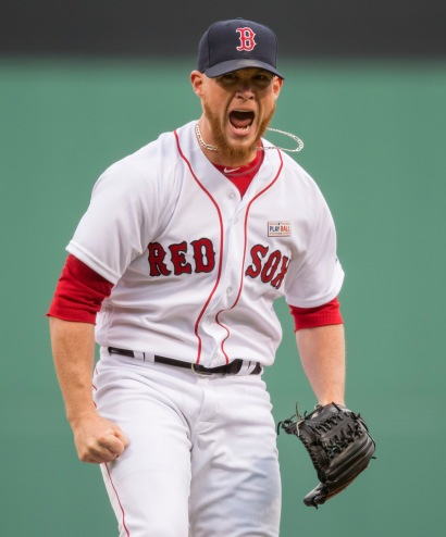 BOSTON, MA - MAY 15: Craig Kimbrel #46 of the Boston Red Sox reacts after closing out a 10-9 victory over the Houston Astros in the ninth inning on May 15, 2016 at Fenway Park in Boston, Massachusetts. (Photo by Michael Ivins/Boston Red Sox/Getty Images) *** Local Caption *** Craig Kimbrel