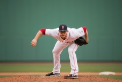 BOSTON, MA - MAY 15: Craig Kimbrel #46 of the Boston Red Sox pitches against the Houston Astros in the ninth inning on May 15, 2016 at Fenway Park in Boston, Massachusetts. (Photo by Michael Ivins/Boston Red Sox/Getty Images) *** Local Caption *** Craig Kimbrel
