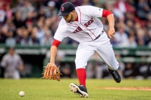 BOSTON, MA - MAY 24: David Price #24 of the Boston Red Sox fields a ground ball during the second inning of a game against the Colorado Rockies on May 24, 2016 at Fenway Park in Boston, Massachusetts. (Photo by Billie Weiss/Boston Red Sox/Getty Images) *** Local Caption *** David Price