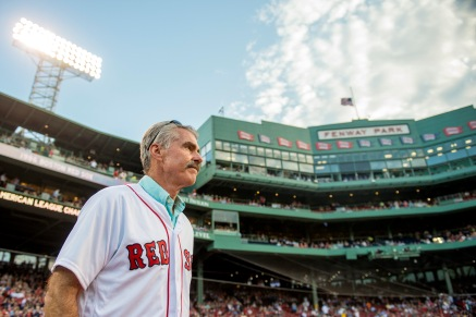 BOSTON, MA - MAY 25: Former Boston Red Sox player Bill Buckner is introduced during a 1986 20-year team reunion before a game between the Boston Red Sox and the Colorado Rockies on May 25, 2016 at Fenway Park in Boston, Massachusetts. (Photo by Billie Weiss/Boston Red Sox/Getty Images) *** Local Caption *** Bill Buckner