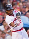 BOSTON, MA - JULY 20: Hanley Ramirez #13 of the Boston Red Sox hits a two-run home run against the San Francisco Giants in the second inning on July 20, 2016 at Fenway Park in Boston, Massachusetts. (Photo by Michael Ivins/Boston Red Sox/Getty Images) *** Local Caption *** Hanley Ramirez