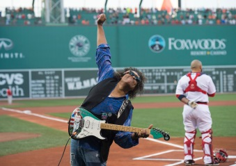 BOSTON, MA - JULY 20: Jon Butcher performs the national anthem before before a game between the Boston Red Sox and the San Francisco Giants on July 20, 2016 at Fenway Park in Boston, Massachusetts. (Photo by Michael Ivins/Boston Red Sox/Getty Images) *** Local Caption *** Jon Butcher