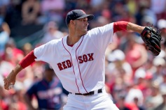 BOSTON, MA - JULY 24: Rick Porcello #22 of the Boston Red Sox pitches against the Minnesota Twins in the first inning on July 24, 2016 at Fenway Park in Boston, Massachusetts. (Photo by Michael Ivins/Boston Red Sox/Getty Images) *** Local Caption *** Rick Porcello