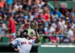 BOSTON, MA - JULY 24: Jackie Bradley Jr. #25 of the Boston Red Sox catches a fly ball against the Minnesota Twins in the first inning on July 24, 2016 at Fenway Park in Boston, Massachusetts. (Photo by Michael Ivins/Boston Red Sox/Getty Images) *** Local Caption *** Jackie Bradley Jr.