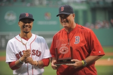 BOSTON, MA - August 13: Pregame Ceremonies before the Boston Red Sox game against the Arizona Diamondbacks on August 13, 2016 at Fenway Park in Boston, Massachusetts. (Photo by Mark Clavin/Boston Red Sox)