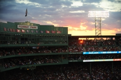 BOSTON, MA - August 27: Fenway Park sunset during the Boston Red Sox game against the Kansas City Royals on August 27, 2016 at Fenway Park in Boston, Massachusetts. (Photo by Mark Clavin/Boston Red Sox)