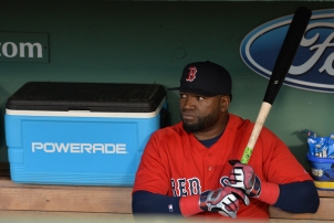 -Boston, MA-September 16, 2016- The Boston Red Sox played the New York Yankees in the second of a 4 game set. The Red Sox won game 7-4. David Ortiz sits in dugout prior to the game. Photo by Cindy M. Loo/The Boston Red Sox