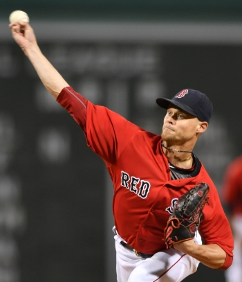 -Boston, MA-September 16, 2016- The Boston Red Sox played the New York Yankees in the second of a 4 game set. The Red Sox won game 7-4. Clay Buchholz throws a pitch in the first inning. Photo by Cindy M. Loo/The Boston Red Sox
