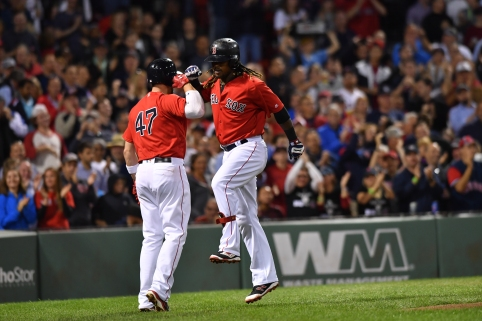 -Boston, MA-September 16, 2016- The Boston Red Sox played the New York Yankees in the second of a 4 game set. Hanley Ramirez hits a solo homer in the 4th inning Photo by Cindy M. Loo/The Boston Red Sox