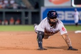 BALTIMORE, MD - SEPTEMBER 22: Jackie Bradley Jr. #25 of the Boston Red Sox dives into third base after hitting a triple during the second inning of a game against the Baltimore Orioles on September 22, 2016 at Oriole Park at Camden Yards in Baltimore, Maryland. (Photo by Billie Weiss/Boston Red Sox/Getty Images) *** Local Caption *** Jackie Bradley Jr.