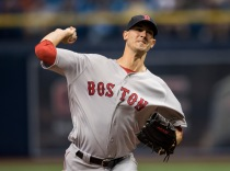 ST. PETERSBURG, FL - SEPTEMBER 24: Rock Porcello #22 of the Boston Red Sox pitches against the Tampa Bay Rays in the first inning on September 24, 2016 at Tropicana Field in St. Petersburg, Florida. (Photo by Michael Ivins/Boston Red Sox/Getty Images) *** Local Caption *** Rick Porcello