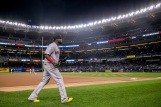 NEW YORK, NY - SEPTEMBER 28: David Ortiz #34 of the Boston Red Sox walks toward the dugout before a game against the New York Yankees on September 28, 2016 at Yankee Stadium in the Bronx borough of New York City. (Photo by Billie Weiss/Boston Red Sox/Getty Images) *** Local Caption *** David Ortiz