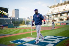 CLEVELAND, OH - OCTOBER 6: David Ortiz #34 of the Boston Red Sox takes the field before game one of the American League Division Series on October 6, 2016 at Progressive Field in Cleveland, Ohio. (Photo by Michael Ivins/Boston Red Sox/Getty Images) *** Local Caption *** David Ortiz